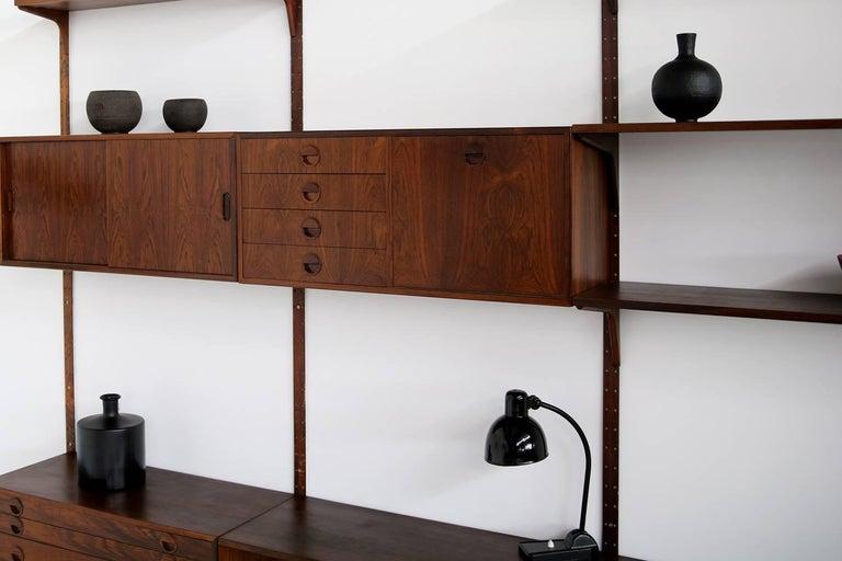 Wood Beautiful 1960s Wall Unit Rud Thygesen & Johnny Sorensen Shelving HG Furniture For Sale