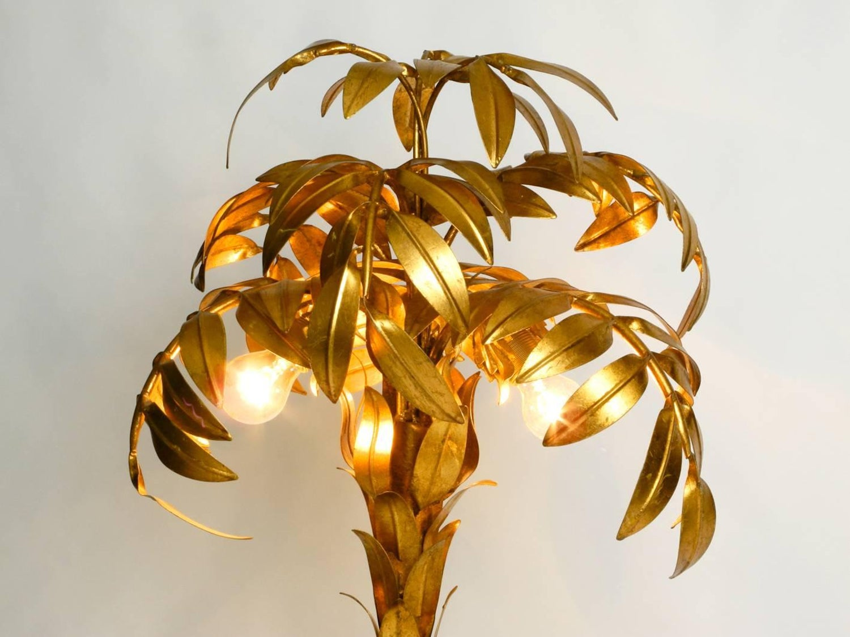 Beautiful 1980s Original Brass Palm Floor Lamp By Hans Kogl For