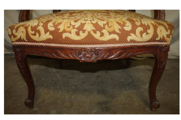 Beautiful 19th Century French Armchair For Sale 7