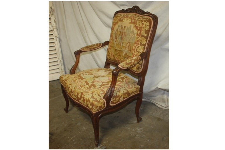 Beautiful 19th century French armchair.