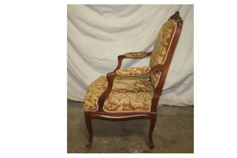 Louis XV Beautiful 19th Century French Armchair For Sale