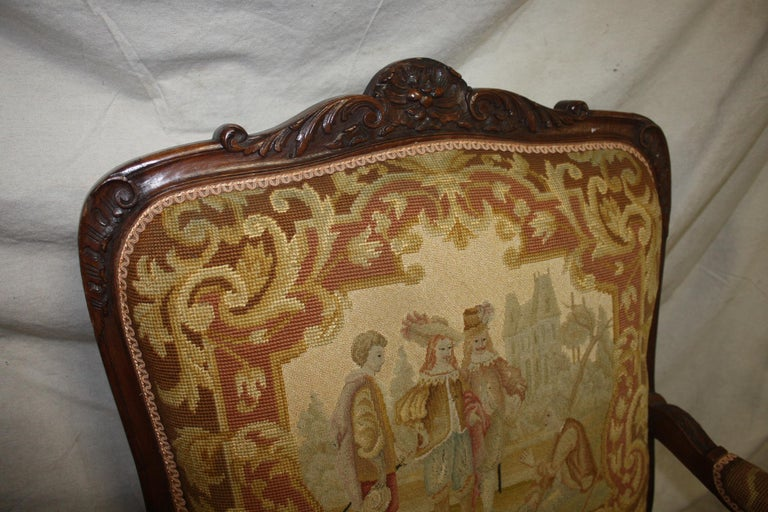 Beautiful 19th Century French Armchair For Sale 1