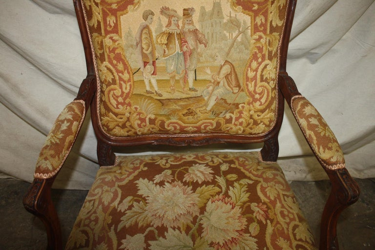Beautiful 19th Century French Armchair For Sale 3