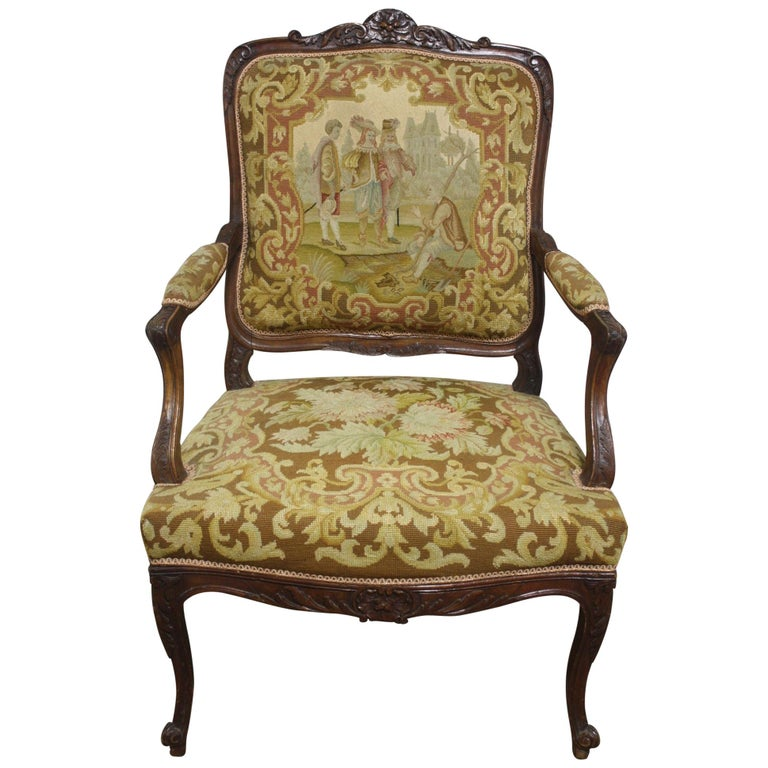 Beautiful 19th Century French Armchair For Sale