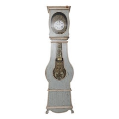 Beautiful 19th Century French Blue and White Morbier Clock