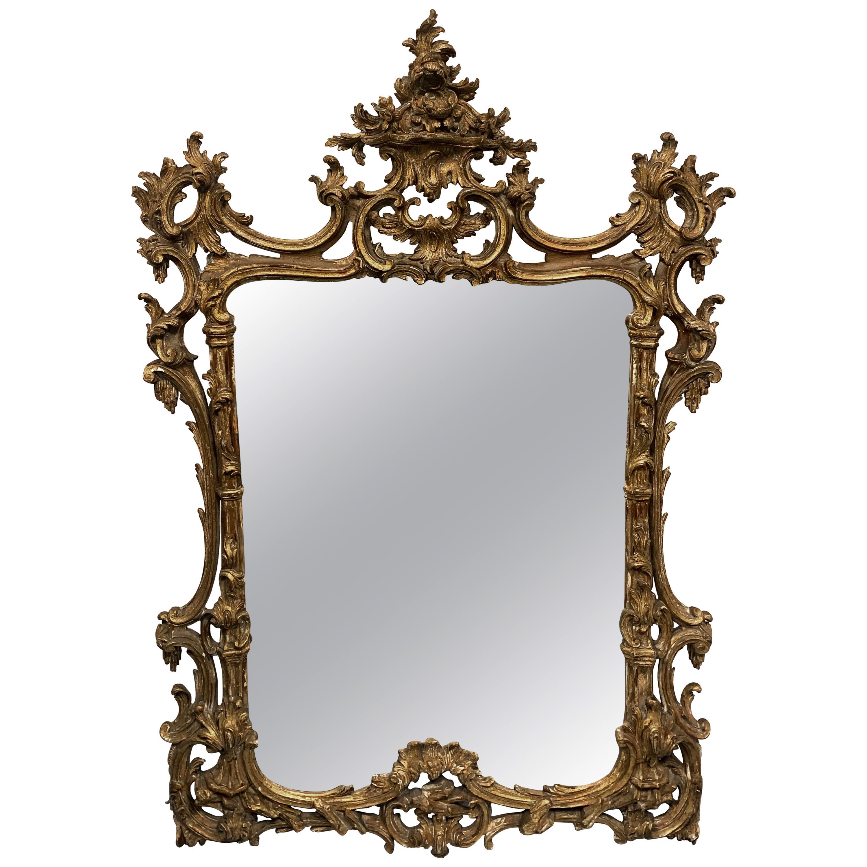 Beautiful 19th Century Gilded Wood Mirror