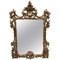 Beautiful 19th Century Gilded Wood Mirror