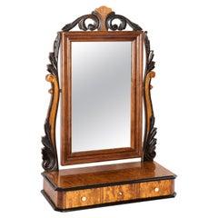 Beautiful 19th Century Mahogany Dressing Table with Mirror, 1960s