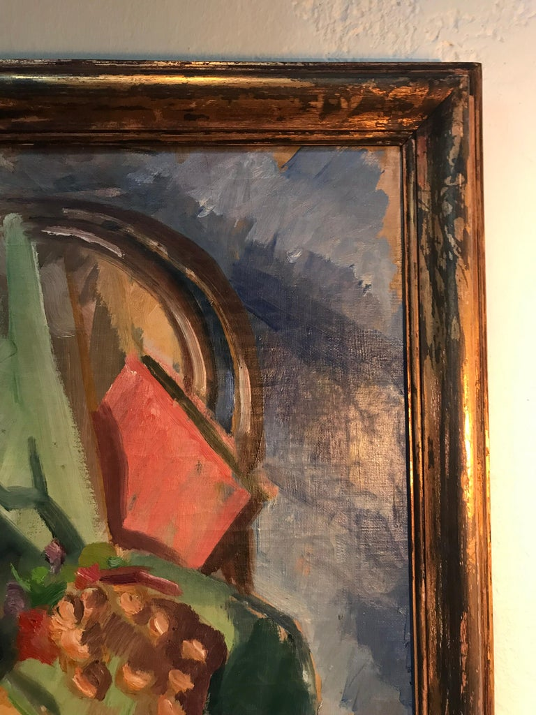 Beautiful Abstract Oil on Canvas by Danish Artist Georg Glud In Good Condition For Sale In Søborg, DK
