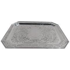 Beautiful American Art Nouveau Sterling Silver Tray by Kerr