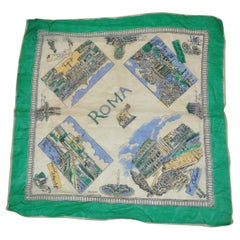 Beautiful Ancient Scenes of Rome Silk Scarf