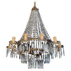 Beautiful and Elegant 1940's French Crystal Chandelier