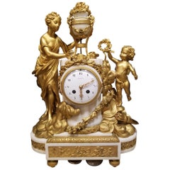 Beautiful and Fine 19th Century French Mantle Clock Signed Tiffany