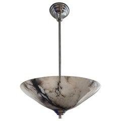 Top Quality and Original Pure Art Deco Alabaster Pendant Light / Flush Mount