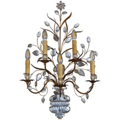 Beautiful and Rare Extra Large Wall Sconce by Maison Baguès, Paris, circa 1930s