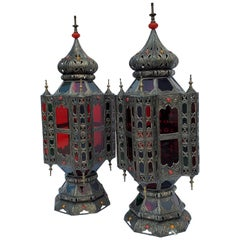 Beautiful and Rare Pair of Vintage Moroccan Table Lamps