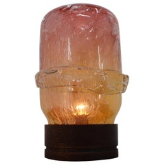 Beautiful and Unique Big Art Glass Table Lamp, circa 1970s