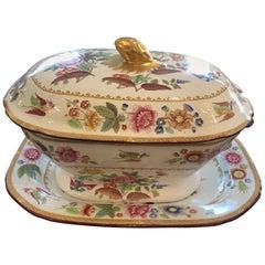 Beautiful Antique 3-Piece Copeland Porcelain Soup Tureen