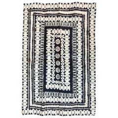 Beautiful Antique African Painted Leather Rug