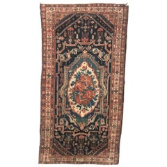 Beautiful Antique Aubusson Style Mid Eastern Rug