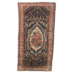 Beautiful Antique Aubusson Style Mid-Eastern Rug