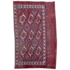 Beautiful Antique Chuval Turkmen Rug