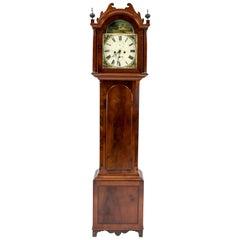 Beautiful Antique English Grandfather Clock, Mahogany, 19th Century