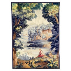 Beautiful Antique French Aubusson Tapestry