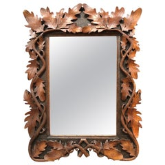 Beautiful Antique Hand Carved Mirror from the Late 1800s