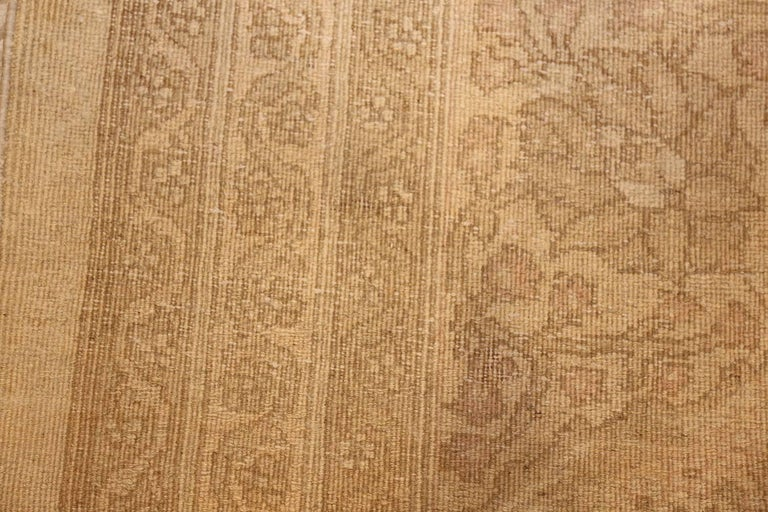 Hand-Knotted Beautiful Antique Indian Agra Carpet. Size: 12 ft x 13 ft 10 in For Sale