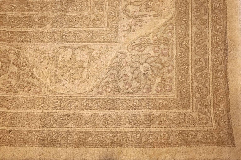 20th Century Beautiful Antique Indian Agra Carpet. Size: 12 ft x 13 ft 10 in For Sale