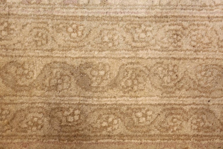 Wool Beautiful Antique Indian Agra Carpet. Size: 12 ft x 13 ft 10 in For Sale
