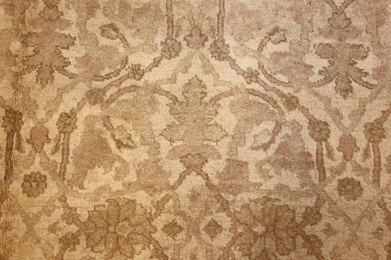 Beautiful Antique Indian Agra Carpet. Size: 12 ft x 13 ft 10 in For Sale 2
