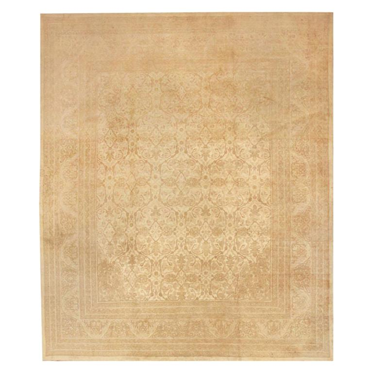 Beautiful Antique Indian Agra Carpet. Size: 12 ft x 13 ft 10 in For Sale