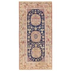 Beautiful Antique Khotan Carpet from East Turkestan. Size: 5 ft 5 in x 11 ft