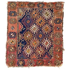 Beautiful Antique Little Shahsavand Bag Face Kilim