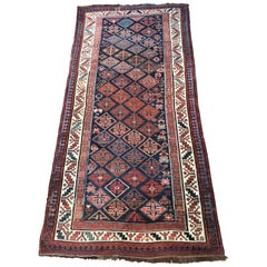Beautiful Antique Long Caucasian Rug