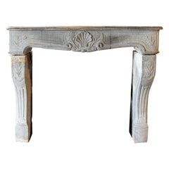 Beautiful Antique Marble Stone Fireplace Mantel from the 18th Century
