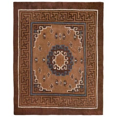 Beautiful Antique Mongolian Rug. Size: 10 ft 3 in x 12 ft 6 in (3.12 m x 3.81 m)