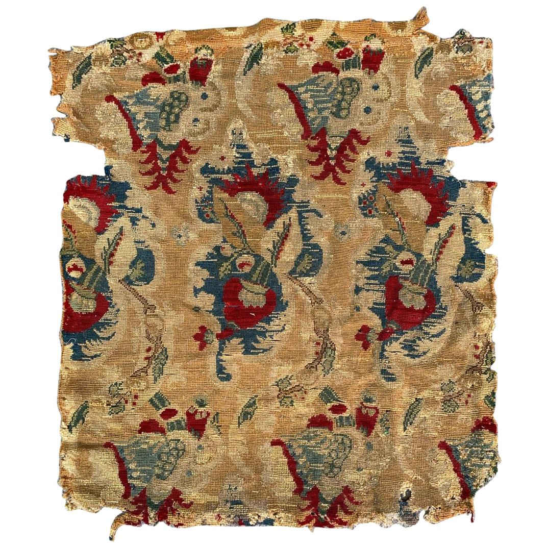 Beautiful Antique Needlepoint Tapestry