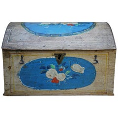 Beautiful Antique Painted Table Box