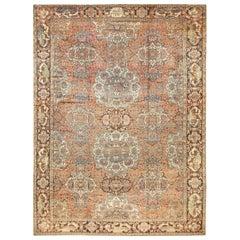 Beautiful Antique Persian Bakhtiari Rug. Size: 14 ft 7 in x 19 ft 6 in