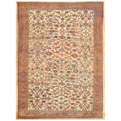 Beautiful Antique Persian Bakshaish Carpet. Size: 9 ft 3 in x 11 ft 7 in