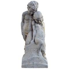 Beautiful Antique Sandstone Statue, 19th Century