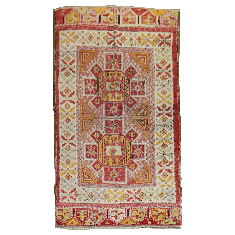 Beautiful Antique Turkish Konya Rug