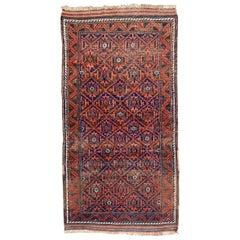Beautiful Antique Turkmen Baluch Afghan Rug