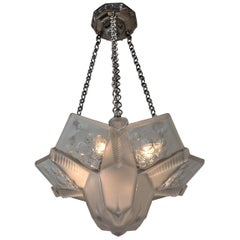 Beautiful Art Deco Chandelier by Muller Frères