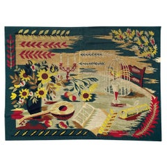 Beautiful Art Deco French Needlepoint Tapestry