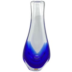 Beautiful Art Glass Vase by Beranek Skrdlovice, Czechoslovakia, 1960s