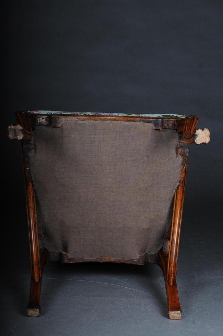 Beautiful Art Nouveau Armchair after L. Majorelle For Sale 3